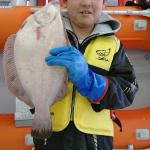 🎣函館港内で良型マコガレイ🎣